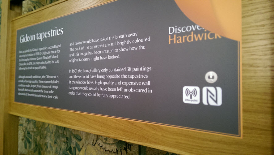 One of the panels in Hardwick promoting the Info-Point