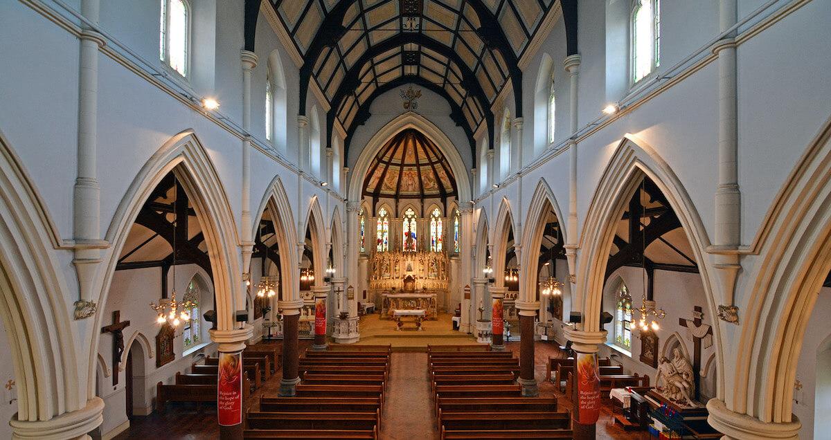 Lowestoft church interior